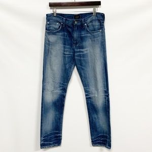 Agolde | Slim Fit Distressed Straight Leg Jean